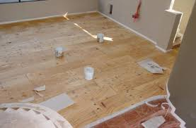 installing plywood flooring over