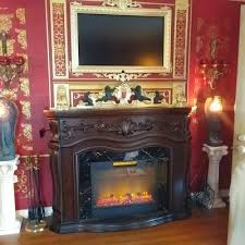 62 grand cherry electric fireplace