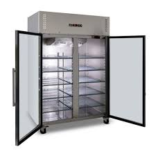 ag 1200 litre upright double glass door