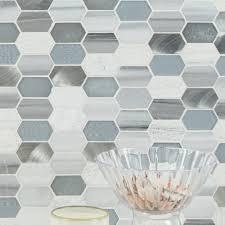 Msi Harlow Picket Glass Stone Mosaic Tile In Gray Reviews Wayfair