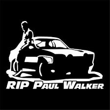 Amazon Com Pokewin 2pcs Rip Paul Walker Sticker Car Bumper Auto Vinyl Decor Automotive