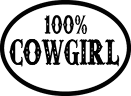 100 Cowgirl Reflective Vinyl Decal Sticker
