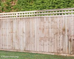 Closed Board Fence With Trellis Top Kudos Fencing Ltd