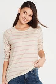 Sonya Long Sleeve T-Shirt Turtle Dove Rose Stripe | Mavi Jeans – Mavi AU