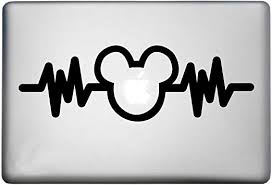 Amazon Com Walt Disney Mickey Mouse Sticker Macbook Air Pro Decal Is A Mickey Mouse Decal Laptop Size 11 12 13 And 15 Inch Looks Great With Your Mickey Heartbeat Theme Many Colors