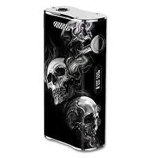 Skin Decal Vinyl Wrap For Eleaf Istick 100w Vape Mod Box Glowing Skulls In Smoke