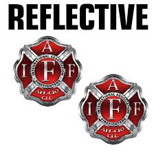 Buy Iaff International Fire Fighter Red Bumper Sticker 4 X 4 In Cheap Price On Alibaba Com