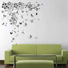 Huge Butterfly Vine 3d Mirror Butterflies Wall Sticker Walplus Touch Of Modern