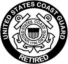 United States Coast Guard Retired Car Or Truck Window Decal Sticker Rad Dezigns