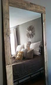 diy mirror with natural wood frame