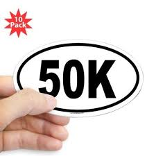 50k Oval Decal Bumper Stickers Poster Stickers Prank Gifts