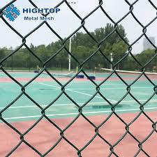 China Diamond Green Pvc Coated Chain Link Fence For Playground China Chain Link Fence Chain Link Wire Mesh