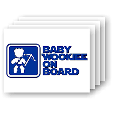 Amazon Com Baby Wookiee On Board Chewbacca Vinyl Car Decal Handmade