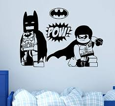 Amazon Com West Mountain Batman Wall Decal Art Kids Playroom Robin Decor Vinyl Stickers Large 22 W X 16 H Home Kitchen