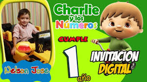 Charlie Y Los Numeros Video Invitacion Digital Fiesta Youtube
