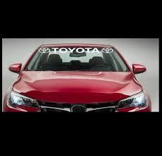 Toyota Windshield Banner Decal Sticker With Logo S Custom Sticker Shop