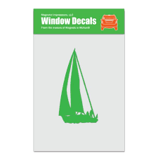 Sailboat Car Window Decal Lime Walmart Com Walmart Com