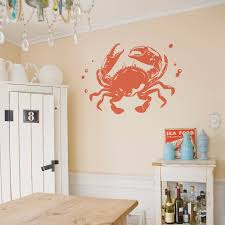 Crab Wall Decal Crab Wall Art Wallums