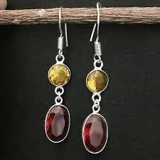 925 sterling silver earrings ruby