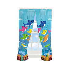 Franco Kids Room Window Curtain Panels Drapes Set 82 X 63 Baby Shark Blinkee Com