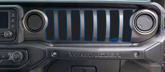 2 Door Dash Grill Decal Fits 2018 Up Jeep Wrangler Jl Jt Sahara Alt Roe Graphics And Apparel
