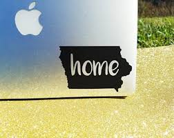 Iowa Car Decal Etsy