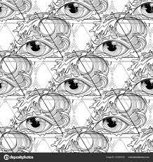 Abstracte Grafisch Oog Stockvector C Homunkulus28 157293730