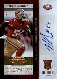 2013 Panini Contenders Playoff Ticket #199A Nick Moody Autograph ...