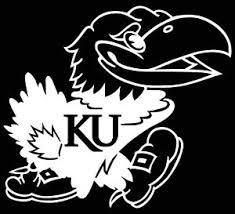 Kansas Jayhawks Logo Car Decal Vinyl Sticker White 3 Sizes Bird Ebay