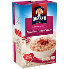 quaker instant oatmeal strawberries