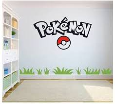 Amazon Com Pokemon Go Wall Art Pokemon Wall Art Wall Sticker Decal Kids Room Bedroom Wall Art Home Kitchen