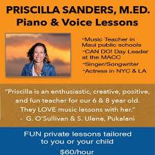 Priscilla Sanders - Music Lessons
