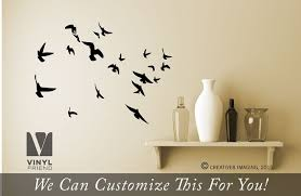 Flock Of Flying Birds Set Of 20 Wall Vinyl Decal Sticker Silhouettes For Your Home Or Bedroom 2038