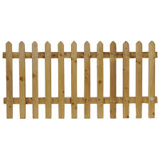 75mm 3 Paling Pointed Picket Fence Panel 75mm Gap 0 9 3ft X 6ft 1 83m Manningham Concrete
