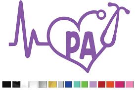 2 Two Heartbeat Pa Physician Assistant Vinyl Graphic Decal Style 5000 By Shop Vinyl Design Shop Vinyl Design