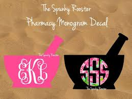 Our Spunky Pharmacy Monogram Decals Are Perfect For Our Favorite Pharmacists And Pharmacy Techs Perfect For Your Car La Pharmacy Gifts Pharmacy Fun Pharmacy
