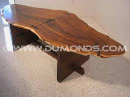 rustic wood slab coffee table olive