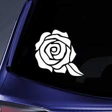 Amazon Com Bargain Max Decals Rose Flower Sticker Decal Notebook Car Laptop 5 5 White Automotive