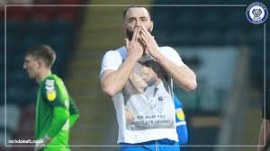 """Rochdale AFC on Twitter: """"A special moment for Aaron Wilbraham this  afternoon 🙌 He dedicated his brace to his late mother, who sadly passed  away a couple of weeks ago 💙 #RAFC…"""