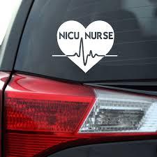 Nicu Nurse Heart Decal Southern Caliber Decals