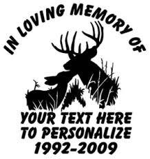 In Loving Memory Of Deer Decal Truck Stickers Wildlife Decal