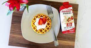 premier protein strawberry waffles