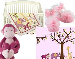 baby girl monkey bedding and pink