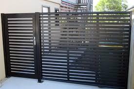 Clik N Fit Colorbond Steel Side Fence Including Gate Backyard Fences Modern Fence Fence Design