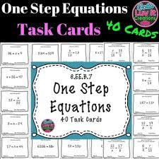 one step equations no negatives