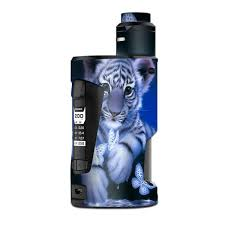 Skin Decal Vinyl Wrap For Geekvape Gbox Squonk Kit 200w Vape Kit Skins Stickers Cover Cute White Tiger Cub Butterflies Itsaskin Com