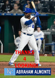 ABRAHAM ALMONTE 2018 KANSAS CITY ROYALS BASEBALL CARD