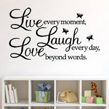 Live Laugh Love Removable Art Vinyl Mural Home Room Decor Wall Stickers Art Wall Sticker For Kids Children Room Decoration C217 Wall Stickers Aliexpress