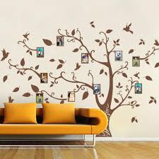 Mairgwall Family Tree Wall Decals Children Vinyl Wall Decals Wall Stickers Nursery Tree Wall Art Brown Lucky Tree 64