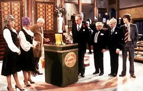 """The cast of """"Are You Being Served"""" in their """"Grace Brothers ..."""